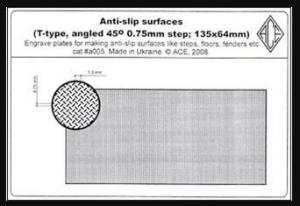 Anti-slip surfaces T-type