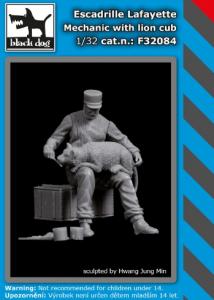 Escadr.Lafayete Mechanic w/ lion cub (1 fig.)