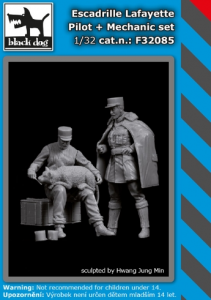 Escadrille Lafayete Pilot & Mechanic (2 fig.)