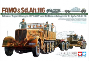 German 18 Ton Heavy Half-Track Famo and Tank Transporter Sd.Ah.116 Tamiya 35246