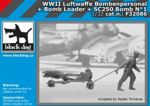 Luftw. WWII personel+bomb loader+SC250 No.1
