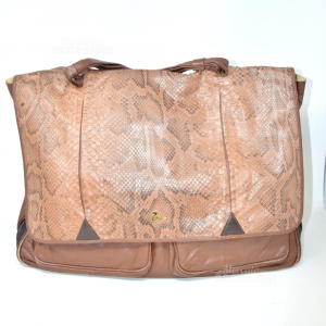 Borsa Donna Marrone In Vera Pelle Fannybag Made In Firenze