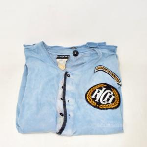 T-shirt Uomo Azzurra Richmond Originale Tg M