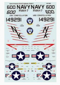 RA-5C Vigilante RVAH-7 SuperScale International 48-1004