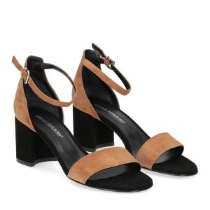 Andrea Schuster sandalo R804 camoscio nero