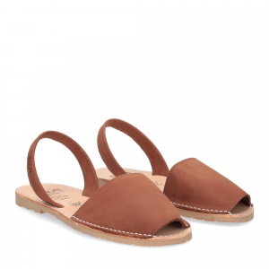 Ria Menorca sandalo minorchina camoscio marrone