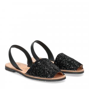 Ria Menorca sandalo minorchina nero glitter