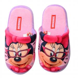 Minnie ciabatte rosa in morbido peluches con pallini antiscivolo varie taglie