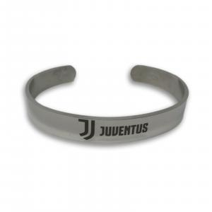 Bracciale JUVENTUS prod uffic. in acciaio rigido regolabile con logo JJ Juventus