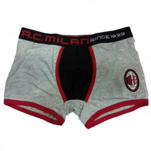 MILAN boxer uomo grigio in cotone varie taglie underwear prodotto ufficiale