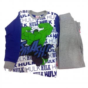 AVENGERS pigiama in cotone maglia e pantalone lunghi varie taglie da bambino