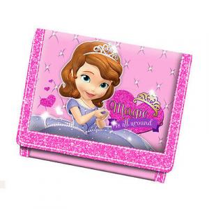 PRINCIPESSA SOFIA portafoglio con strappo e zip posteriore rosa 12x9,5 cm