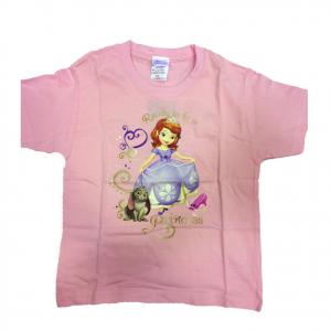 PRINCIPESSA SOFIA t-shirt maglietta rosa stampata varie taglie da bambina
