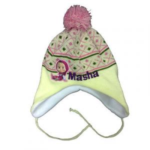 MASHA E ORSO cappello in lana con paraorecchie con pon-pon taglia unica