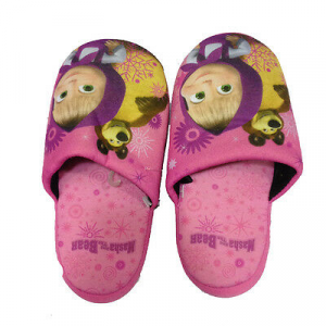MASHA E ORSO ciabattine imbottite rosa per bambina varie taglie