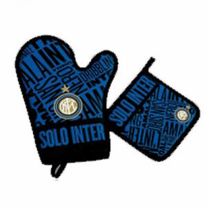 Set Inter guanto  e presina da forno