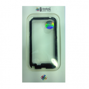 COVER mascherina bump SAMSUNG GALAXY NOTE II nera e bianca in plastica e silicon