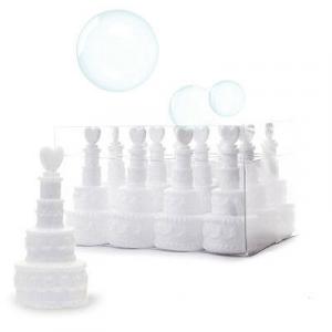 N.48 fiale per bolle di sapone bubbles torta wedding party matrimonio festa