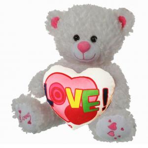 Peluche orso bianco circa 44cm con cuore multicolor scritta LOVE SAN VALENTINO