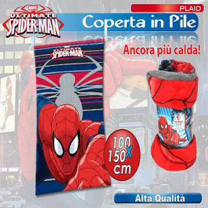 PLAID MORBIDO SPIDERMAN UOMO RAGNO 100X150 CM