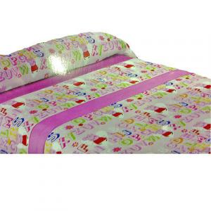 PEPPA PIG completo letto 3 pezzi rosa multicolor in cotone da bambina