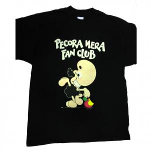 T-shirt umoristiche PECORA NERA 100% cotone nera PECORA NERA FAN CLUB