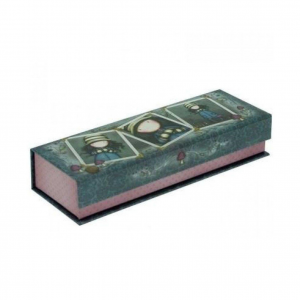 GORJUSS Portapenne e matite pencil box in cartone stampato grigio 20x7x4 cm