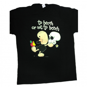 T-shirt umoristiche PECORA NERA 100% cotone nera TO BEEEH OR NOT TO BEEH