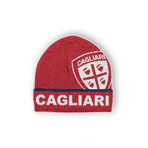 CAGLIARI CALCIO ROSSO cappello con scritte CAGLIARI CALCIO E CREST RICAMATO