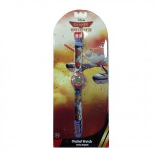PLANES orologio da polso rosso e azzurro DUSTY digitale in plastica da bambino