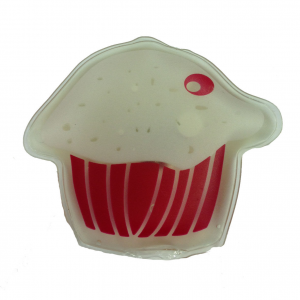 Scaldamani muffin rosa  portatile autoriscaldante e riutilizzabile idea regalo
