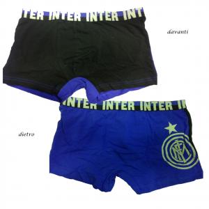 INTER boxer nero blu in cotone underwear taglia 16 anni da bambino