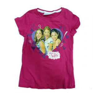 VIOLETTA t-shirt in cotone taglia 6/7 Anni da bambina