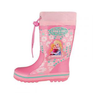 FROZEN stivali in gomma da pioggia rosa varie taglie da bambina