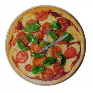 Orologio cucina parete PIZZA simpatico home design 30 cm diametro
