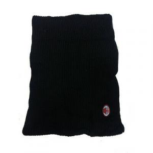 INTER scaldacollo in lana nera con stemma ricamato