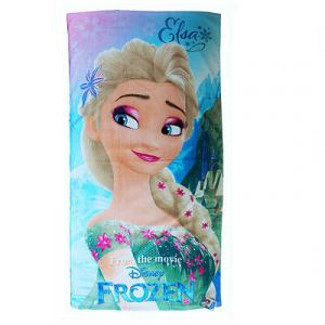 FROZEN telo mare Elsa in spugna 70x140 cm da bambina
