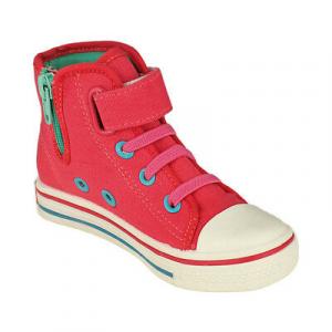 FROZEN scarpe alte di tela rosa finti lacci con zip varie taglie da bambina