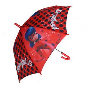 Miraculous ladybug ombrello manico lungo, meccanismo a scatto di qualità.