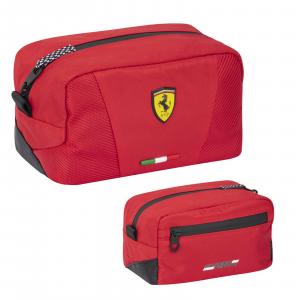 FERRARI Scuderia Ferrari Beauty Case Uomo 2 zip dimensioni: 12x11x20,5CM circa