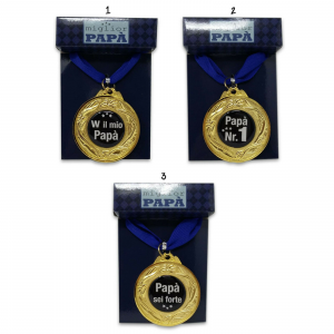 Festa del papà medaglia in metallo del miglior papà in 4 varianti idea regalo