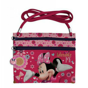 Borsetta/Tracollina Minnie Disney Adorable Me 2 zip in tessuto dim. 21x17,5 cm