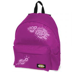 Zaino scuola KOOKIE  24 litri fuxia con scritta rosa