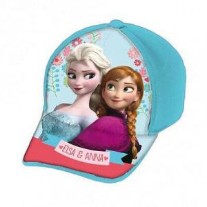 FROZEN cappello con visiera azzurro con stampa effetto lucido da bambina