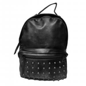 Zaino Comix Pins Zainetto donna,in ecopelle nero con borchiette su fronte