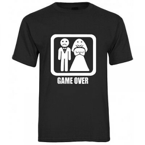 T-shirt GAME OVER unisex