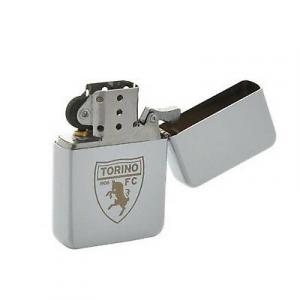 Accendino in metallo modello ZIPPO squadra del cuore FC Torino crest inciso