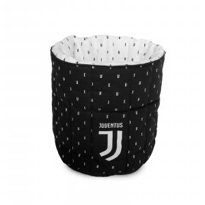 JUVENTUS Porta oggetti trapuntato in cotone stampato nuovo logo lavabile in lava