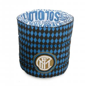 INTER Porta oggetti Nero azzurro trapuntato, cotone stampato lavabile lavatrice