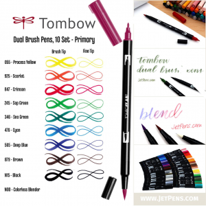 Pennarello TOMBOW due punte inchiostro acquerellabile dual brush vari colori